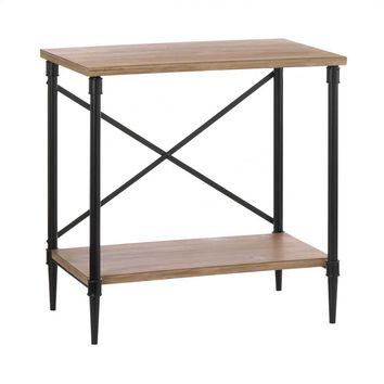 Iron And Fir Wood Industrial Style Console Table