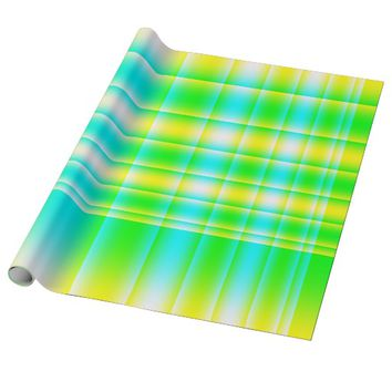 Bright Plaid Wrapping Paper