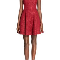 Soloiste Bow Back Lace Fit & Flare Dress | Nordstrom