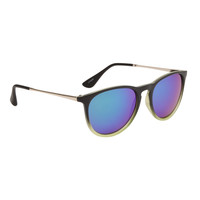 Bangers - Music Festival Sunglasses - Black + Green with Green/Blue/Purple Lens