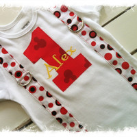 1st BIRTHDAY MOUSE Bodysuit with Name-Boys 1st Birthday Outfit-Cake Smash