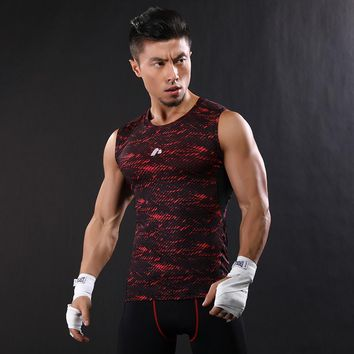 2017 Men Camouflage Tank Tops Breathable Quick-drying Vest Undershirts Stringer Fitness Gyms Tank Male Clothing Sleeveless Shirt