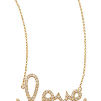 Large 14k Yellow Gold & Diamond Love Necklace - Sydney Evan