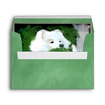 Envelope, A7 Greeting Card, Silk Green-Match Card Envelope