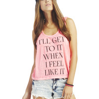 I'll Get to It Tank | Wet Seal