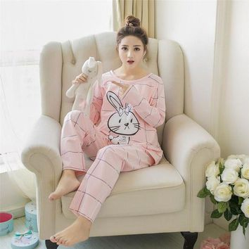 DCCKFS2 Mamalove Spring Autumn Long Sleeve Pregnant Maternity Pajamas Nursing Pajamas Set Sleep Clothes Sleepwear for Pregnant Women
