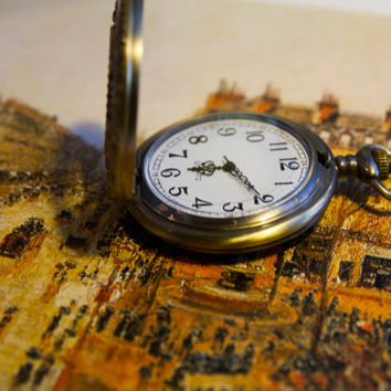 Antique bronze stopwatch