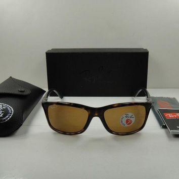Kalete RAY-BAN POLARIZED SUNGLASSES RB8352 622183 TORTOISE/BROWN CLASSIC LENS 57MM