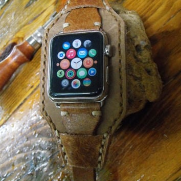 Leather watch strap, Watch band, Apple watch band, watch strap, vintage strap, rustic strap, panerai strap, men's strap, 29