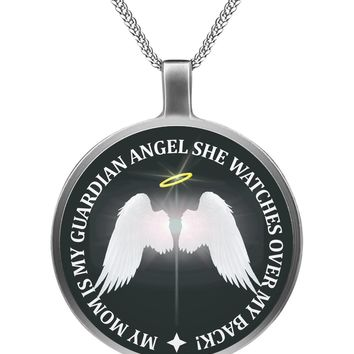 My Family Is My Guardian Angel - Mom Circle Necklace