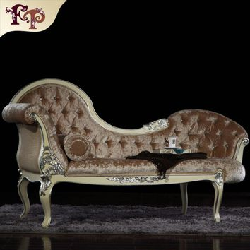 classical furniture for home - baroque royalty leaf gilding chaise lounge