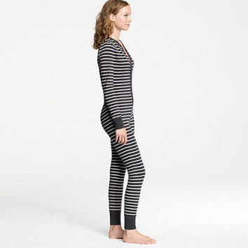 Classic union suit in stripe - sleepwear - Women's Women_Shop_By_Category - J.Crew