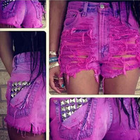 Sexy Women Girl Summer High Waist Ripped Hole Wash Denim Jeans Shorts Pants = 4721362116