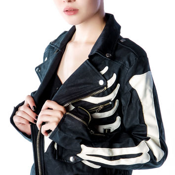 UNIF Boneyard Moto Jacket Black