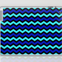 Digital Chevron Bold Blues and Aquas by MADART Laptop & iPad Skin by Megan Duncanson | Society6