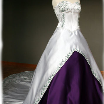 Final Fantasy Inspired Wedding Dress with Purple & by AvailCo