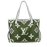 LV 219 new NEVERFULL old flower shopping bag female handbag shoulder bag green
