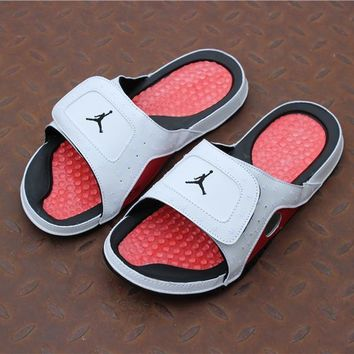 Jordan Hydro XIII Retro AJ13 Slipper - White/Red