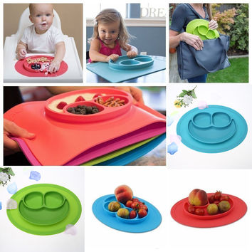1Pc Mini Size Silicon Smiles Food Placemats for Kids