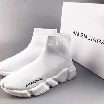 White Balenciaga Woman Men Fashion Sport Sneakers Shoes