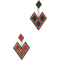 DC Comics Harley Quinn Diamond Stud Earrings