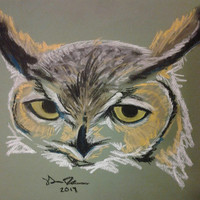 Original Artwork, Pastel Artwork, Owls, Animal, Bird, Home Decor, Wall Art, Living Room Art, Bedroom Artwork, Office Wall Art