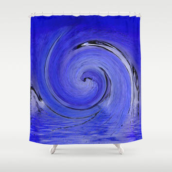 Swoosh! Shower Curtain by Awesome Palette