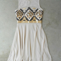 Shimmering Ivory River Dress [6235] - $33.60 : Vintage Inspired Clothing & Affordable Dresses, deloom | Modern. Vintage. Crafted.