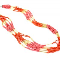 Orange & Pink Bead Necklace - Buy From ShopDesignSpark.com