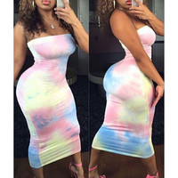 Printed bodycon sexy dress