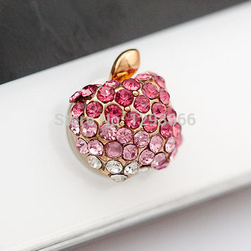 3d home button sticker for iphone 4/4s/5/5s 6 plus  iPad,diamond/cartoon sticker pearl rhinestone phone decoration accessory