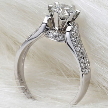 Victoria Wieck Eternity Jewelry 2ct Topaz simulated Diamond 925 Sterling silver Women Wedding Ring Engagement Band Sz 5-11 Gift