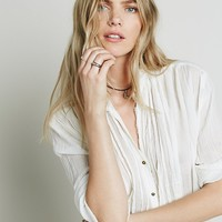 Free People FP ONE Sheer Shirting Tunic