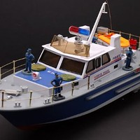 "21"" R/C Super Police Boat Radio Controlled Electric Powered RC Ocean Guard"