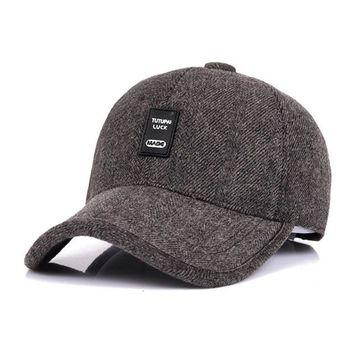 Sports Hat Cap trendy  VORON 2017 Autumn Winter Men And Women Cotton Hat Fashion Outdoor Sports Baseball Cap Truck Driver Leisure Warm Ear Protection KO_16_1