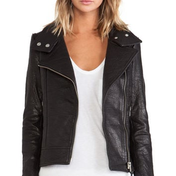 Mackage Lisa Leather Jacket in Black