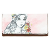Disney Parks Belle Watercolor Wallet by Loungefly New with Tag