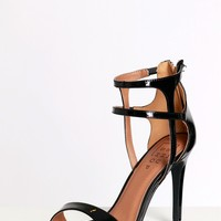 Double Crossed Heels Black