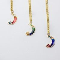 Cherry Blossom Moon Necklace