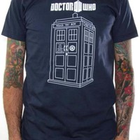 Doctor Who T-Shirt - Linear Tardis
