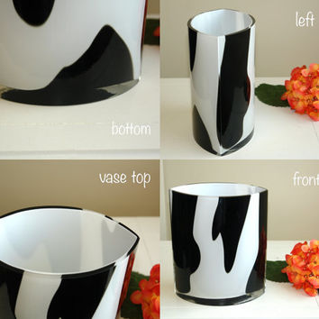 vases glass vase gift ideas hand blown glass vases made in Poland Makora black white weddings handmade glass vases
