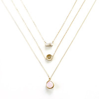 Gold Layer Necklace, Gold Necklace, Simple Minimal Necklace, 14k Gold Fill Necklace Thin Chain Landon Lacey, Delicate Necklace, Emerald Cut