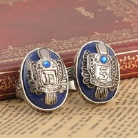 Movie The Vampire Diaries Vintage Damon/Stefan Salvatore Sun Family Crest Rings