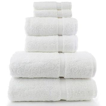 Luxury Turkish White Towel set of 6 PC Premium quality 100% Cotton towels