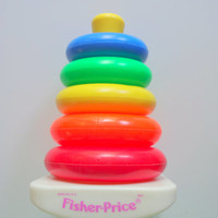 Vintage Fisher Price Rock-a-Stack Toy 1980s