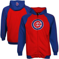 adidas Chicago Cubs Youth Big Bat Full-Zip Hoodie - Red/Royal Blue - http://www.shareasale.com/m-pr.cfm?merchantID=7124&userID=1042934&productID=520934574 / Chicago Cubs