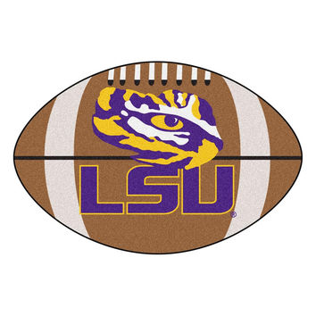 Louisiana State Fightin Tigers NCAA Football Floor Mat (22x35) LSU Logo