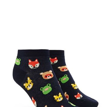 Animal Print Ankle Socks