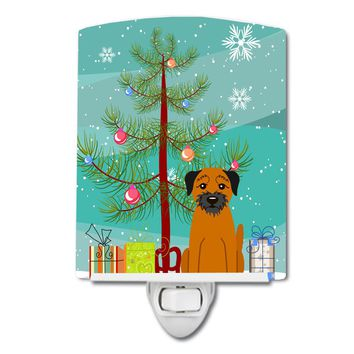 Merry Christmas Tree Border Terrier Ceramic Night Light BB4164CNL