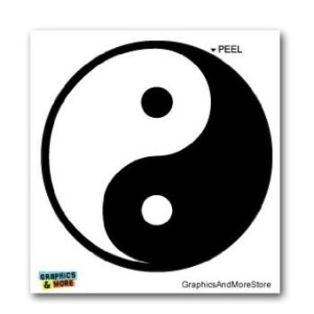 Yin and Yang Asian Chinese Symbol - Window Bumper Laptop Sticker
